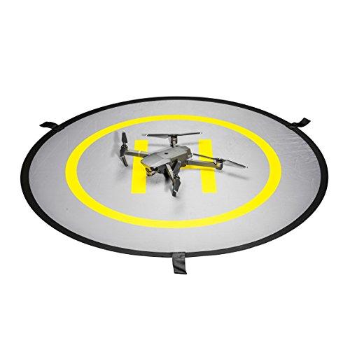 Mantona Drohnen-Landeplatz (faltbar, wasserdicht und langlebig, Durchmesser: 107cm, inklusive Schutztasche, geeignet für DJI SPARK, DJI Phantom, DJI Mavic Pro, Yuneec)