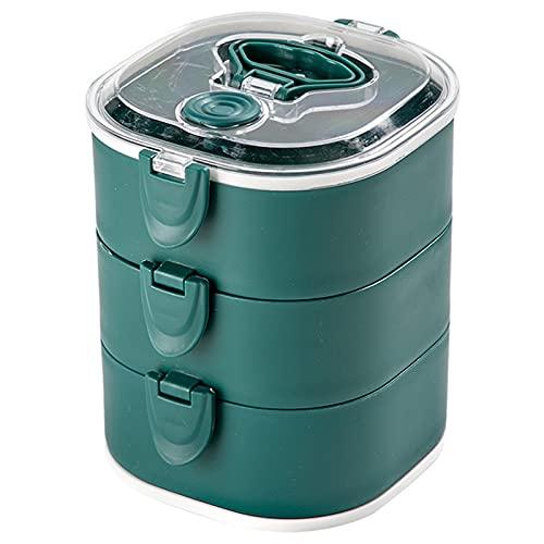 Yyshyi Lunch Bento Box, 1 Piezas Caja de Almuerzo, Caja de Bento con 3 Compartimentos Hermeticos, Fiambreras Adecuada para Hornos de Microondas y Lavavajillas, Salud Duradera, Azul