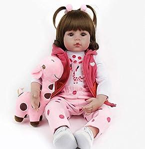 ZIYIUI Reborn dolls18 Bebe Reborn drim 47cm Infant Antonio Juan renacida Muñeca de niño Muñeca de Vinilo de Silicona Muñeca Realista Extra un Juguete de venado
