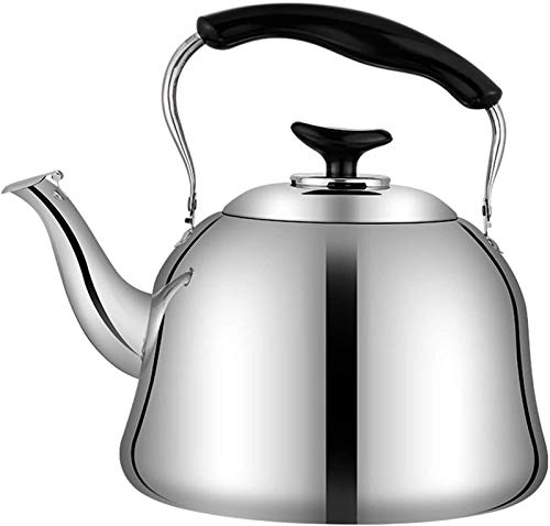 ASDFDG Stovetop kettle Whistle Tea Kettle Stainless Steel Teapot with Heat-Resistant Ergonomic Handle Suitable for Stove Top Large Capacity (Size : 6L)