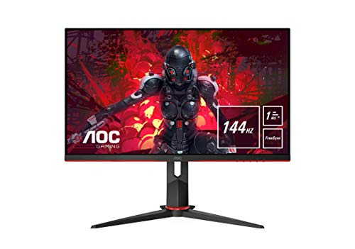 "AOC 27G2U/BK Monitor Gaming de 27"" Full HD e-Sports (IPS, 1ms, AMD FreeSync, 144Hz, Sin Marco, Ajustable en Altura y FlickerFree)"