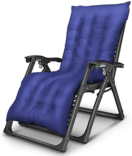 JIUYUE Folding Recliner Lazy Reclining Lounge Chair Lounge Chair Portable Adult Beach Balcony Garden Bedroom Load Capacity Deck Chair