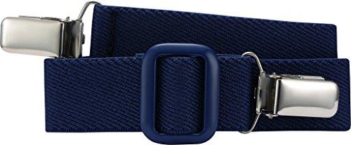 Playshoes Unisex - Kinder Gürtel 601200 Elastischer Kindergürtel mit Clips Uni, passend bei Größe 116-140, Gr. one size, Blau (marine)