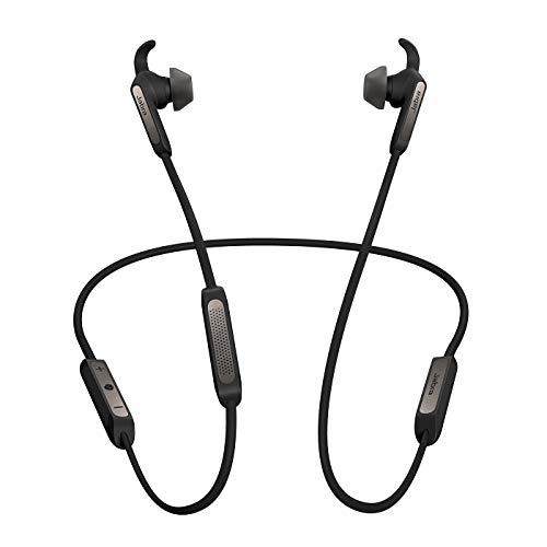 Jabra Elite 45e – Wassergeschützte Bluetooth Kopfhörer für kabelloses Telefonieren und Musik hören – Titan Schwarz