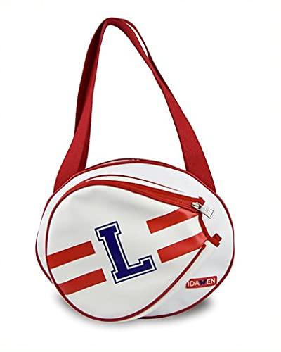 IDAWEN - Paletero Pádel Personalizable Blanco y Rojo - Máxima Organización con Diferentes Bolsillos - Tamaño Mediano - Medidas: 41 x 11 x 32 cm - Funda Pala Pádel - Producto Sostenible