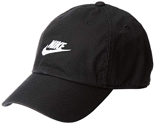 Nike Futura Washed Cap, Black/Black/White, One Size