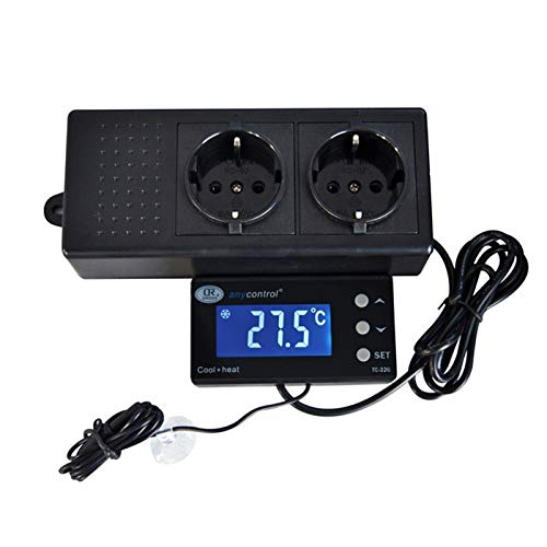 cjcaijun Temperaturkontrolle Digitaler Temperaturregler Timer Tag Nacht Reptile Dimming Thermostat for Aquarium PID Control Aquarienheizer Kühler