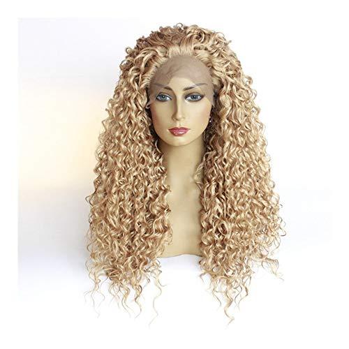 Xiang Ye Dentelle petit rouleau perruque fil haute température de la mode féminine longue perruque petit rouleau perruque bouclée Afrique (Color : 26 inches)