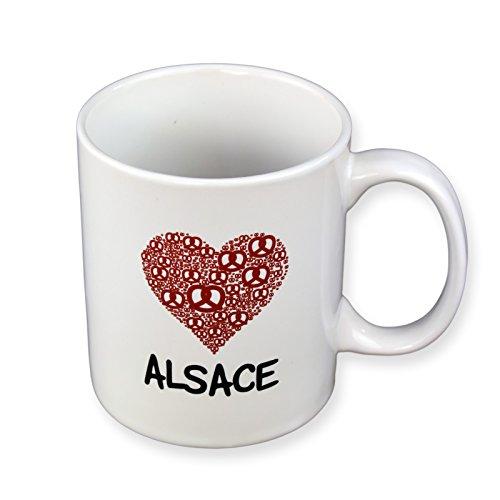 Mug J'aime l'Alsace - Coeur rouge