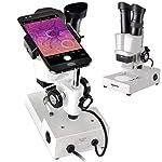 Solomark Stereo Microscope Binocular - Science Lab 3D scope - 20X 40X Magnifications