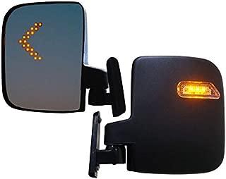 Golf Cart Mirrors With LED Turn Signals - Club Car, EZGO, Yamaha - Golf Carts Universe