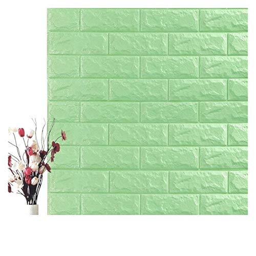 WHYBH HYCSP Self Adhesive Wasserdicht Hintergrund Brick Tapeten-Wand-Aufkleber Wohnzimmer Tapeten Wandbild Schlafzimmer Dekorative (Color : Mint Green, Size : 70cm x7cm)