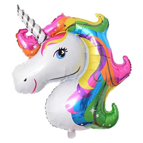 JUNGEN Globos de cumpleaños Globo de Unicornio Colorido Globo de Aluminio Globos de Animal Globo Decorativo para Fiesta temática Aniversario Festival 87*117cm