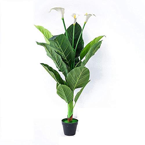 JIAJBG Artificial Plant and Tree, Closer to Nature Artificial Zantedeschia, Multibranch Tropical Potted Festival Holiday Home Décor