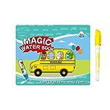 Libros para colorear de agua mágica, libros de pintura con agua para niños y niñas, juguetes de aprendizaje para niños pequeños, regalo ideal reutilizable de cumpleaños, Navidad y Año Nuevo para niños