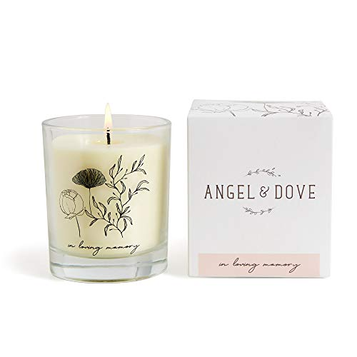 ANGEL & DOVE Luxury 'in Loving Memory' Soy Wax Remembrance Candle - Sympathy Gift, Memorial to Light in Memory of a Loved One