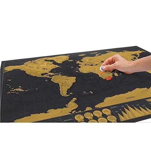 NLLeZ 1 stück Deluxe Black Decoration World Karte kratis abseits der Welte Karte personalisierte Reise skratzen für map Room wohn Dekoration wandaufkleber