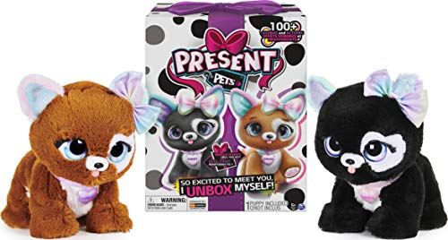 Present Pets, Glitter Puppy Interactive Plush Pet Toy with Over 100 Sounds and Actions (Style May Vary)