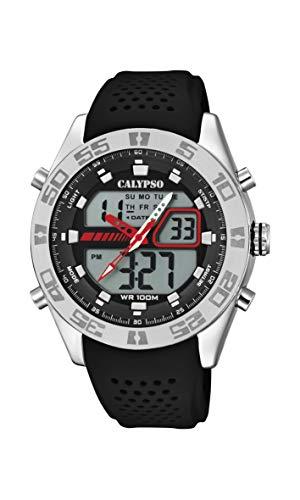 Calypso Watches Reloj Analógico-Digital para Hombre de Cuarzo con Correa en Plástico K5774/4