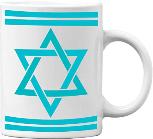 Jewish Star Of David Funny White 11 Oz. Office Coffee Mug - Great Novelty Gift for Office Workers, Bosses, Co-Worker, Friends and Family by Mad Ink Fashions