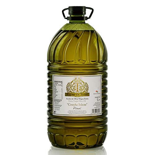 Aceite de Oliva Virgen Extra Pagos de Toral Cosecha Selecta en 5 litros- Variedad Picual y de Jaén. Primera presión en frio de cosecha propia familiar