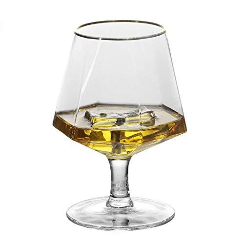 370ml brandy cristal cristal licores copa oro llanta diamante whisky glass wine...