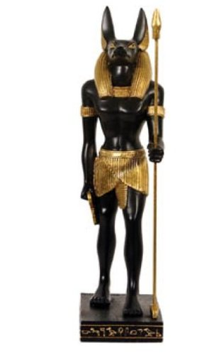 MC Deko Figur Ägyptische Mythologie Anubis stehend 22 cm aus Polyresin