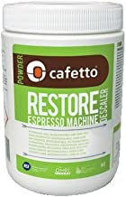 Cafetto Restore Organic Descaler And Cleaner For All Coffee And Espresso Machines - (2.2pound/36oz. Jar)