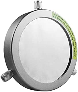 Astromania Deluxe Solar Filter 120mm Adjustable Metal Cap for Telescope Tubes with Outer Diameter 90mm to 112mm Aperture 95mm - Immediately Start Solar observing and Our Sun Becomes Within Reach