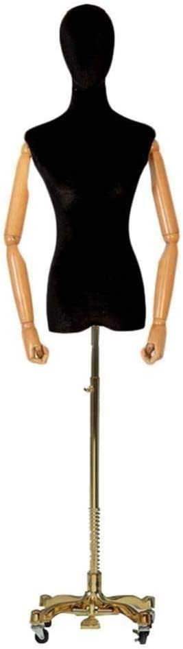Professional Tailor Dummy Max Factory outlet 66% OFF Seamstress Rac Golden Caster Mannequin