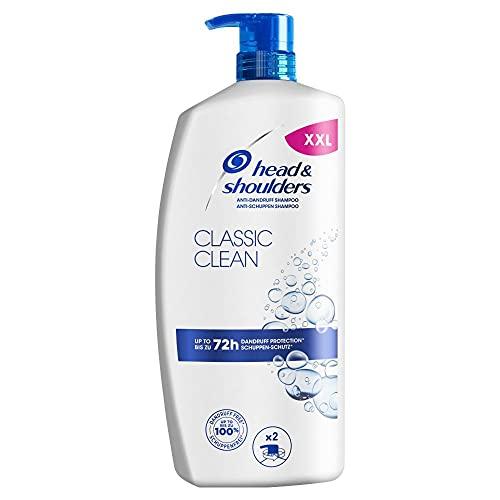Head & Shoulders Classic Clean Anti Schuppen Shampoo, Pumpspender, 72 Stunden Schutz Vor Schuppen, Juckreiz Und Trockenheit, Shampoo Herren, Haarpflege, XXL Shampoo Spender, 900 ml