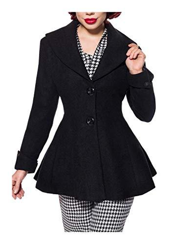 Belsira Damen Vintage-Jacke mit Schalkragen 3XL