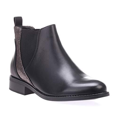 La Modeuse - Chelsea Boots avec empiècement Scintillant à l'arrière