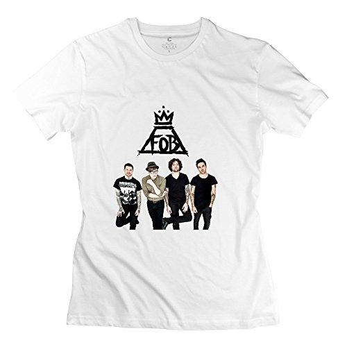 "KST-Maglietta, motivo: ""Fall Out Boy"", design retrò bianco S"