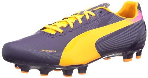 Puma evoSPEED 4.2 FG 102868, Herren Fußballschuhe, Violett (blackberry cordial-fluo orange-fluo pink 02), EU 44 (UK 9.5) (US 10.5)