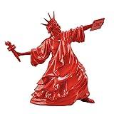 Estatua de la Libertad Lanzar antorcha Escultura de Arte Moderno Feria de Bellas Artes Pensamiento de la Libertad Resina Casa Ornamento Decoración de Escritorio Figurilla