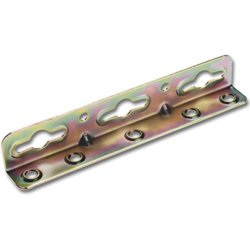 SECOTEC Winkel-Bettschiene | 180 mm | verzinkt | stabile Ausführung | 4 Stück