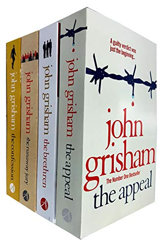 John Grisham Collection 4 Books Set (The Appeal, The Brethren, The Runaway Jury, The Confession)