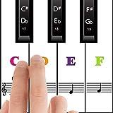 adesivi per tastiera o pianoforte per 37/49/54/61/88, rimovibili pianoforte tastiera adesivi, trasparenti e staccabili, adesivo per tasti di piano per nero e bianco chiavi per bambini e principianti