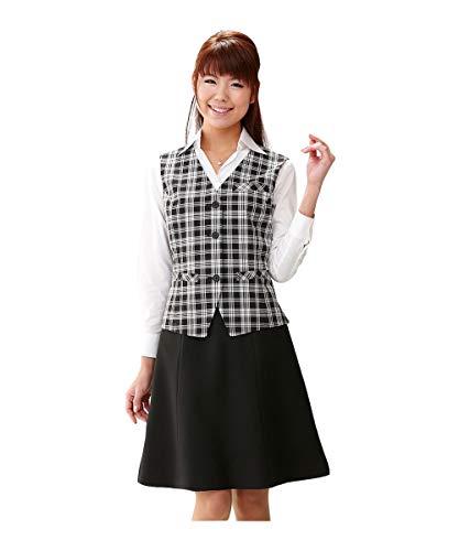 [nissen(ニッセン)] お客様の声を実現!理想のベストスーツ(丈56cm) レディース 黒系チェック+黒 7号