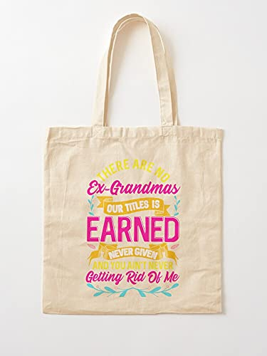Tank Funny Grandma - Borse per la spesa in tela con manici, in cotone resistente