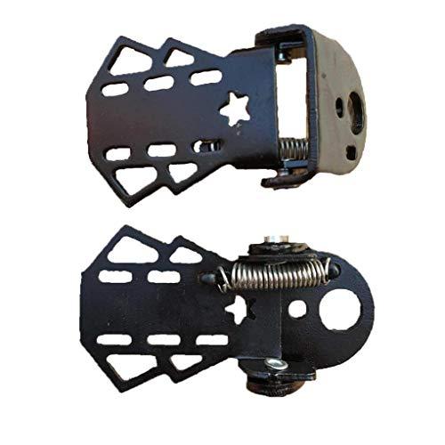 1 Paar Fahrrad hinten Pedale Fahrrad Folding Fußraste Metall Fußstütze für Kinder Erwachsene Radsport Zubehör