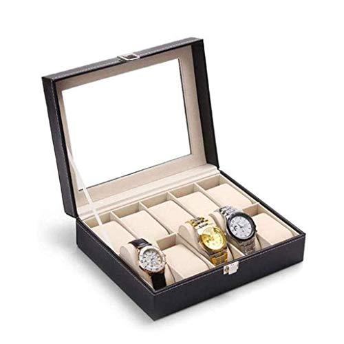ROSG Organizador de Caja de joyería, Caja organizadora de Collar, Almacenamiento de Anillo con Vitrina de joyería de Diamantes para Pulseras