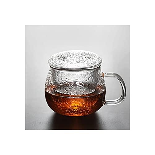 Tetera de vidrio borosilicato con infusor de vidrio transparente – para té suelto, té en bolsa, té floreciente