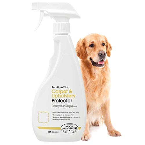 Furniture Clinic Carpet & Upholstery Protector - Protects Fabric from Future Spills and Dirt - Repels Oil and Water Based Stains, All Natural Plant Based Cleaner