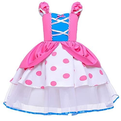 Tsyllyp Little Girls Polka Dot Princess Costume Dress Up for Halloween Christmas Tutu Dresses