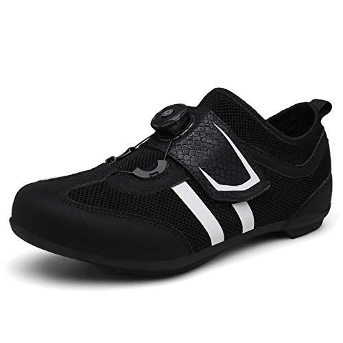 shoe Zapatillas de Bicicleta de Carretera para Hombre Y Mujer,Calzado de Bicicleta de Montaña para Deportes Al Aire Libre, Calzado de Ciclismo Transpirable Y Cómodo,Zapatos de Carreras Todoterreno
