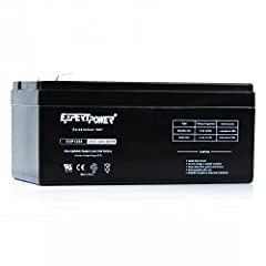 Genuine ExpertPower Battery - The Most Trusted And Highest Reviewed Sealed Lead Acid Batteries Battery Type - 12 Volt 3.3 Amp 20 Hour Sealed Lead Acid Battery With F1 Terminals Battery Dimensions - 5.28 in (length) x 2.38 in (width) x 2.64 in (depth)...