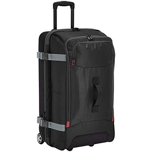 Amazon Basics – Bolsa de viaje Grande con ruedas, Negro