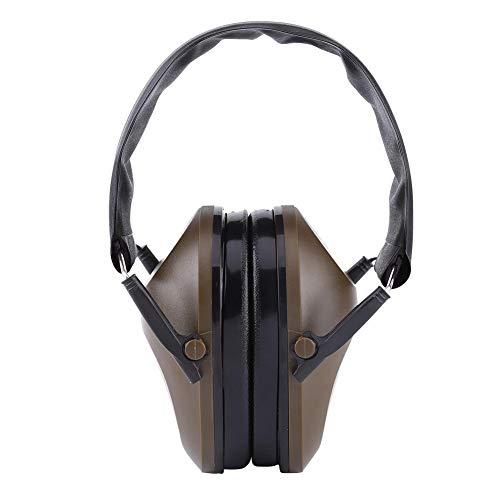 Orejeras de tiro Protector de oído bloqueo de ruido Protección auditiva 21db NRR Reducción de ruido Orejeras plegables profesionales para disparar (verde)